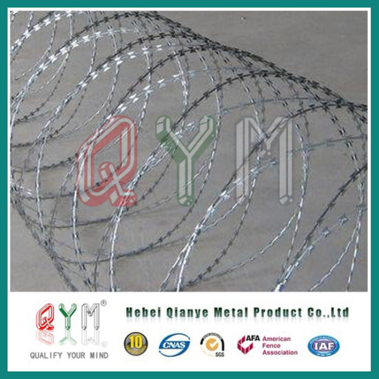 Airport Concertina Barbed Wire/Stainless Steel Concertina Razor Barbed Wire