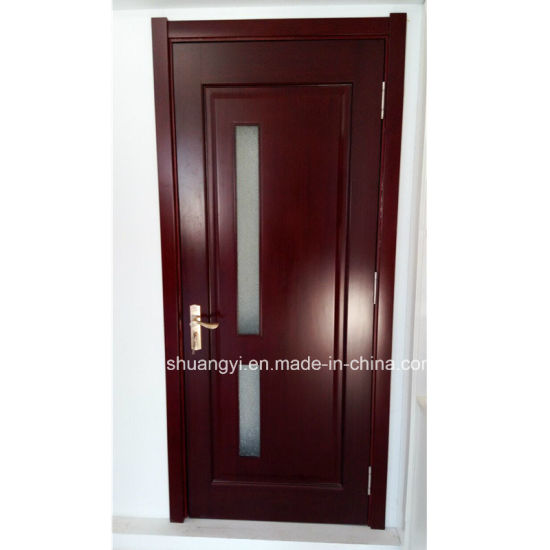 China Pvc Panel Mdf Interior Door With Decorative Glass China Mdf