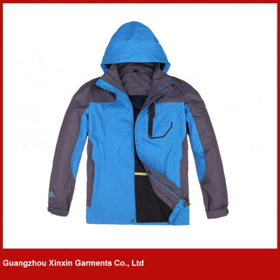 Stylish Designer Blue 3 in 1 Ski Warm Winbreaker Jacket (J129)