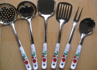 Stainless Steel Kitchen Tools with Ceramic Handle 6 PCS pictures & photos