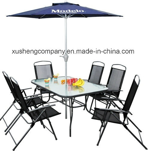 Steel 7PCS Folding Furniture by 6chairs+1 Table Per Set