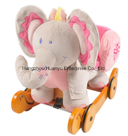 Washable Rocking Horse-Pink Elephant Rocker