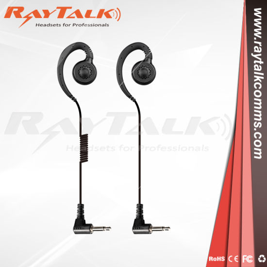 """Listen Receive Only 3.5mm Earpiece 6/"""" Cable for 2-Way Radio Shoulder Microphone"""