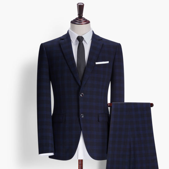 Men Slim Fit Wedding Fashion One Button Jacket and Pants
