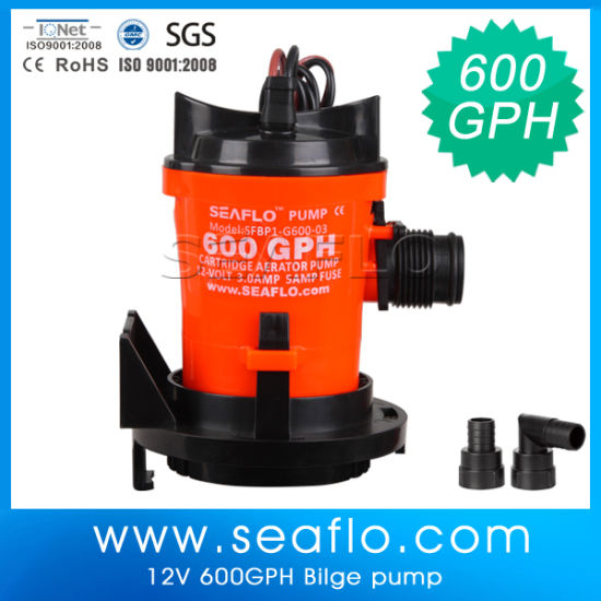 "New 600GPH 12V 3//4/"" Seaflo Automatic Submersible Bilge Pump"