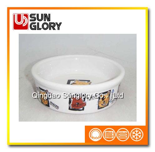 Decal Ceramic Pet Bowl of Gyp039