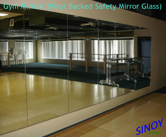 5mm Vinyl Backed Gym Mirror Fitness Club Mirrors For Yoga Dance Studios And Other Commercial