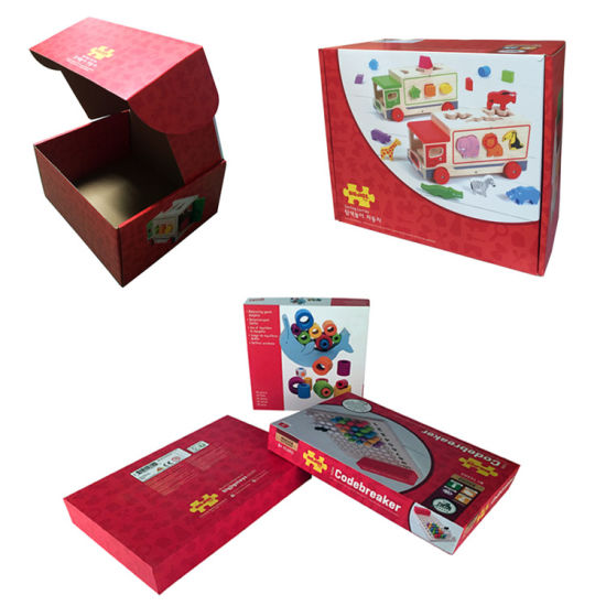Customize Printing Paper Package Toy Boxes with Plastic Window pictures & photos