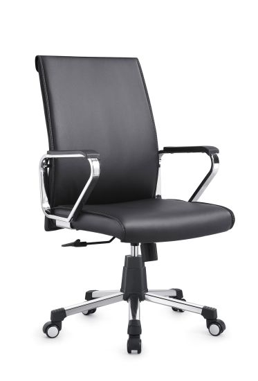 Leather PU Office Visitor Chair PU Leather Conference Office Chair for Meeting Room-2028b