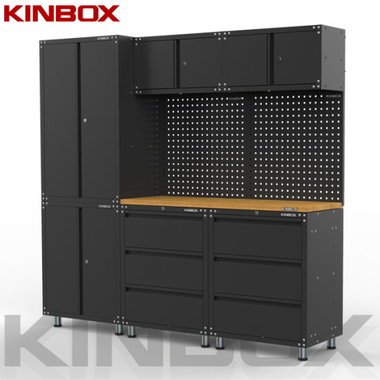 Kinbox 9 Pieces Garage Cabinet Professional Quality Tool Cabinet Manufactures