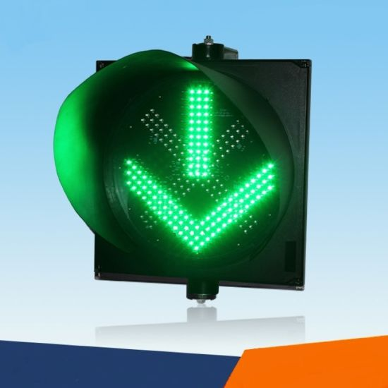 Road/Roadway/Highway Safety Red Cross & Green Arrow Traffic Warning Signal Lights