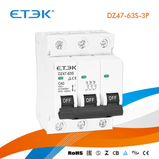 Dz47-63s 4 5ka 1p 4A MCB Miniature Circuit Breaker with TUV CB Test Report  Inmtro Approval