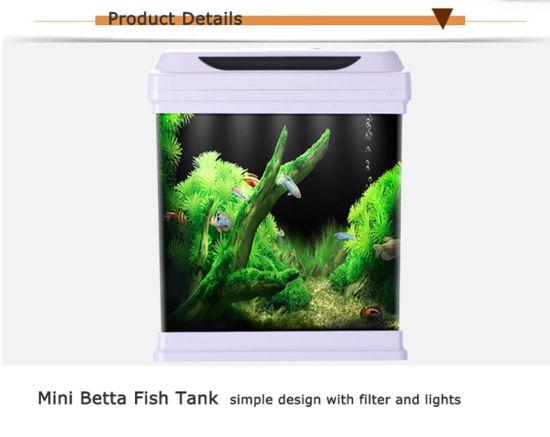 China Mini Betta Fish Tank With 4w Light And 3w Filter China Aquarium And Fish Tank Price