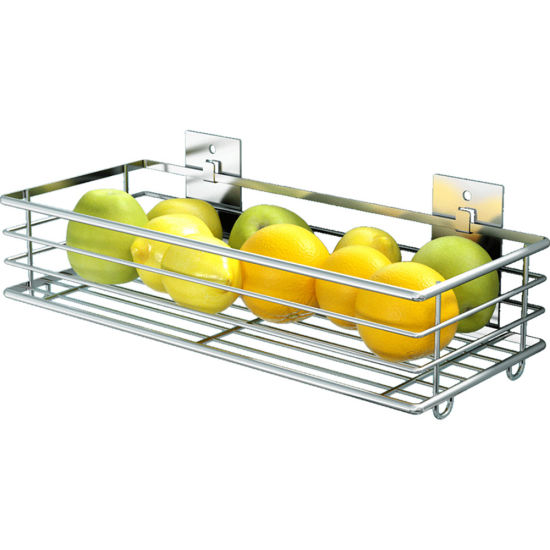 Wall Mounted Kitchen Drying Storage Metal Hanging Fruit and Vegetable Rack  Storage Basket
