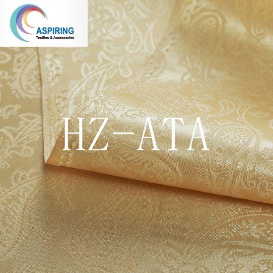 Yarn Dyed Jacquard Woven 100% Polyester Satin Jacquard Curtain Fabric