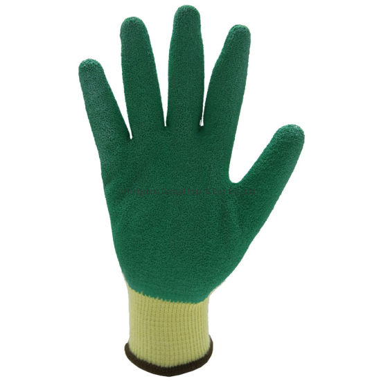 Knitted Cotton Safety Gloves with Latex Coated Ce 3232
