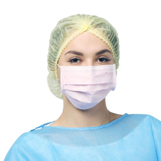 CE Approved Disposable 3 Ply Protective Waterproof Non Woven Face Mask