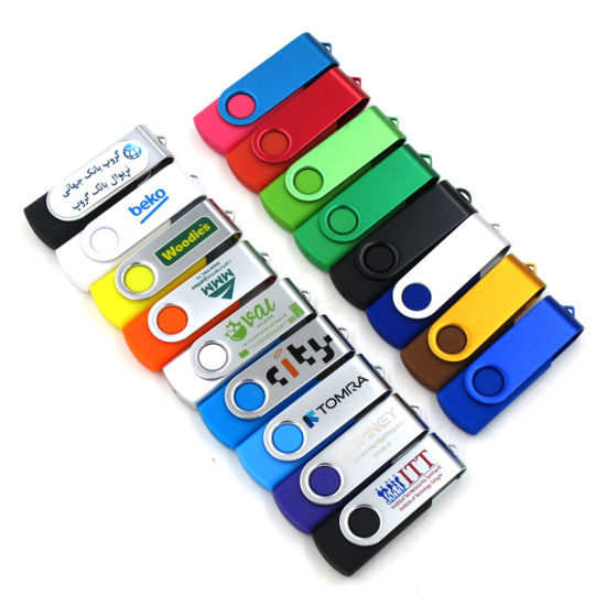 Swivel Plastic USB Pen Drive Colorful Twister High Speed USB Flash Drive