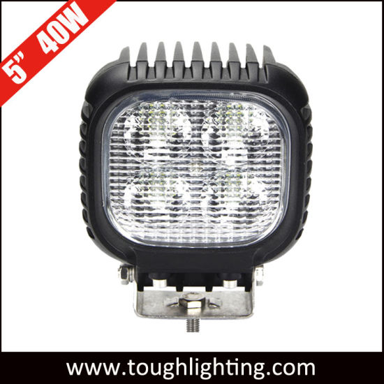 "Ce RoHS IP67 5"" 40W Square CREE Offroad LED Work Lights"