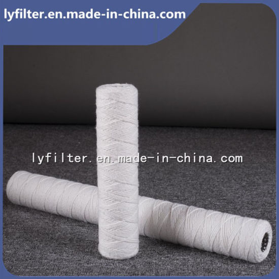 5 Micron Molded Spring PP Yarn String Wound Filter Cartridge with 30 Inch