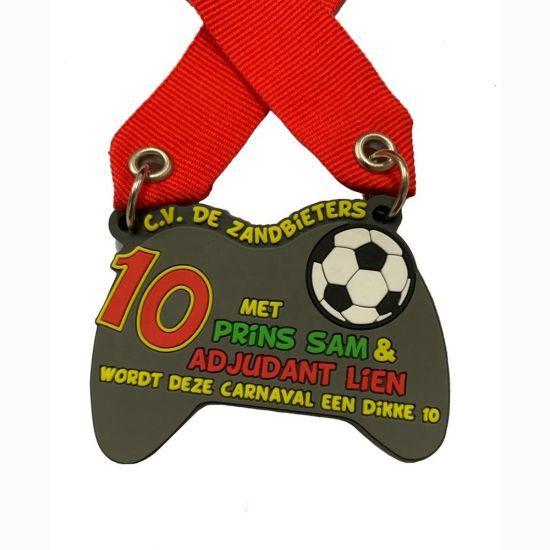 Promotional Souvenir Sport Soft PVC Plastic Miraculous Rubber Fancy Medal for Child