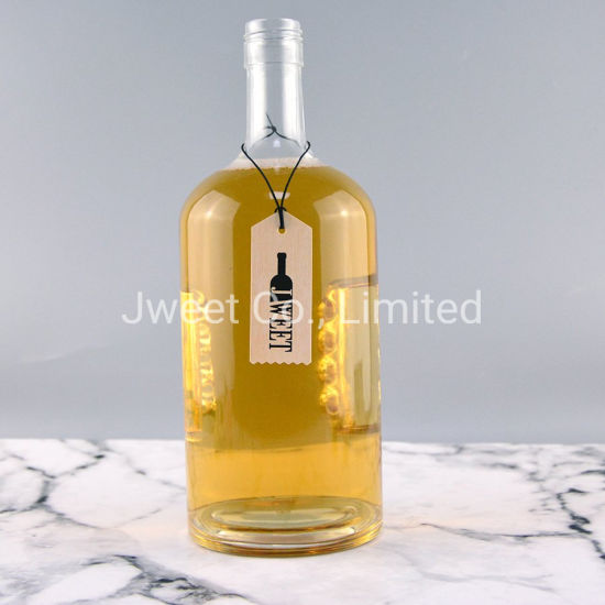 Modern Unique Gin Tequila Glass Bottle 1750 Ml