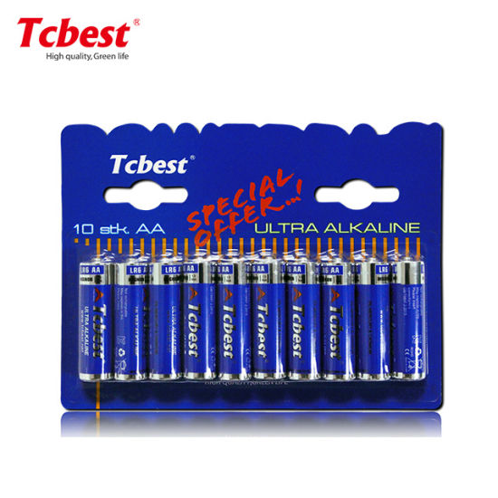 Tcbest/OEM Dry Battery Am3 Size AA 1.5V Lr6 Alkaline Battery