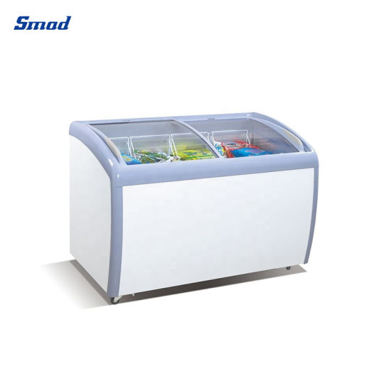 Glass Door Chest Freezer Ice Cream Display Deep Freezer with ETL
