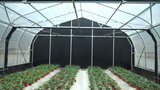 Light Deprivation Blackout System Commercial Agricultural Greenhouse