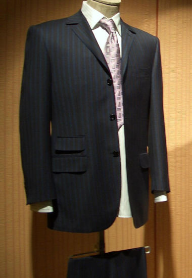 Top-Quality 3button Striped Men's Formal Business Dress Suit
