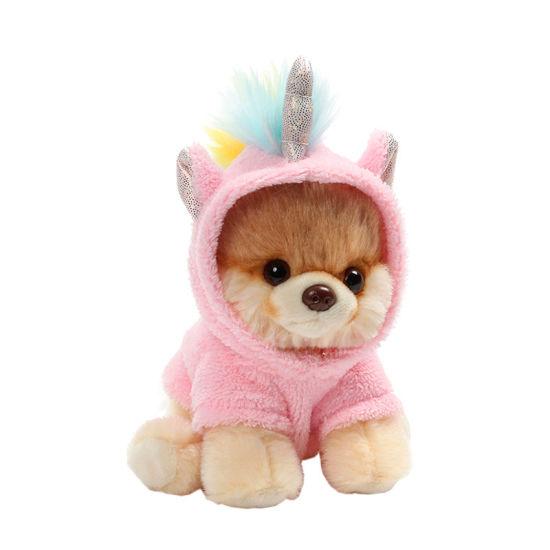 Mini Adorable Dog Plush Toys with Cute Mini Unicorn Clothes