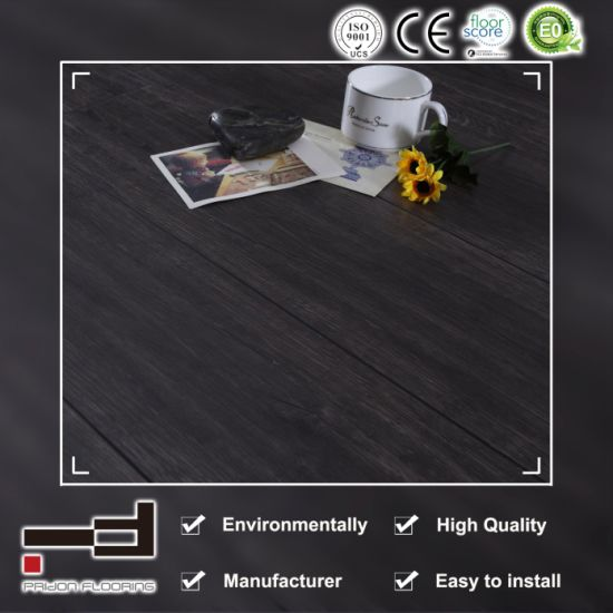 12mm Coffee Oak Antiqe V-Bevelled European Style Water Proof Use German Technology with Uniclic and CE AC3 HDF Living Room Best Sales Laminated Floor pictures & photos