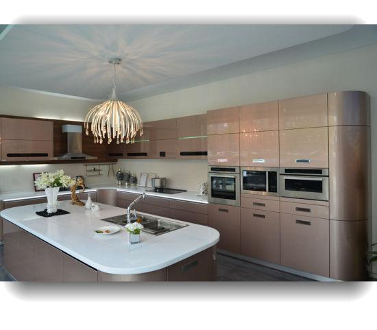 Polyurethane Kitchen Cabinets: China Wholesale Customized High Gloss Polyurethane UV 2
