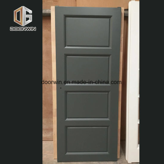 Customization Single Door Design Wooden House Doors Interior Solid Wood Flat  Panel Door