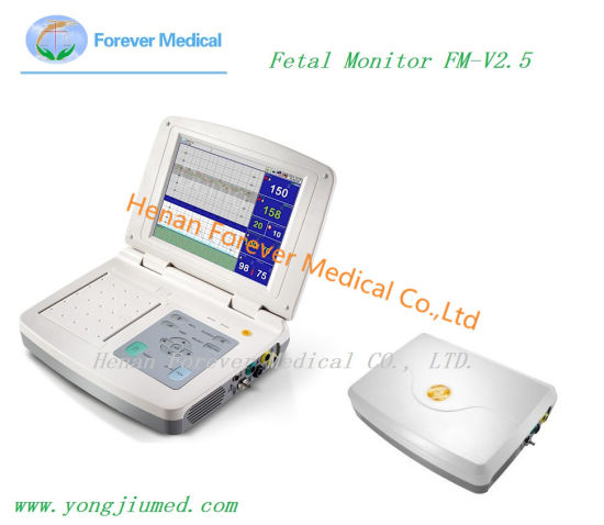 Ultrasound Doppler Twins Touchscreen Fetal Monitor with Ce pictures & photos