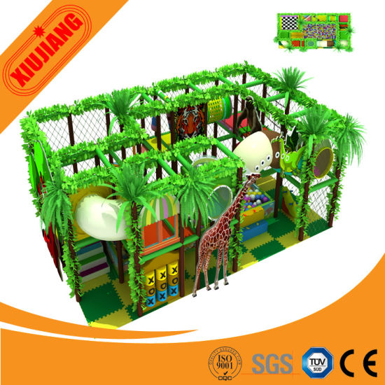 Commercial Indoor Playground Slide Equipment (XJ5034)
