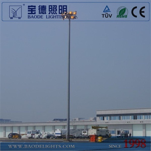 Baode Lights Outdoor 22m 1000W High Pressure Sodium High Mast Light with Airport Certificate pictures & photos