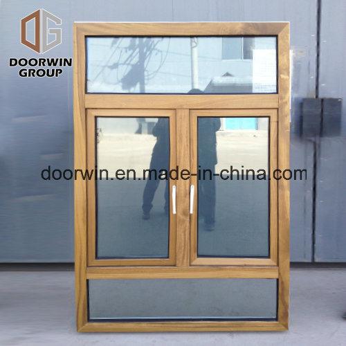 Teak Wooden Window with Aluminum Cladding, America Villa House Teak Wood Aluminum Casement Windows Design