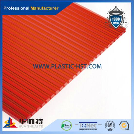 Lexan Material Red PC Hollow Sheet