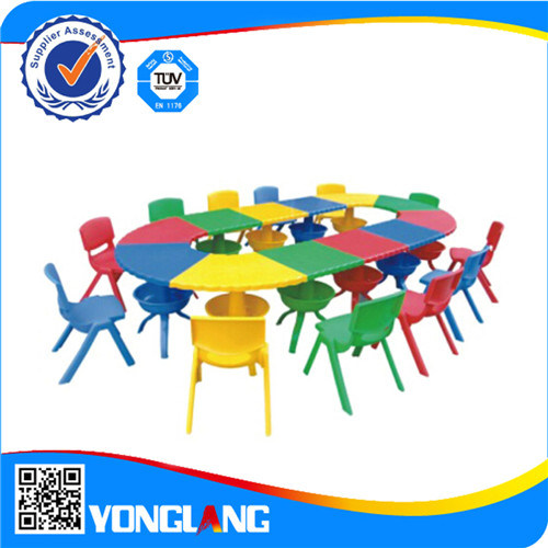 Colorful Plastic Tables and Chairs Price Indoor Playground School Toys (YL6206) pictures & photos