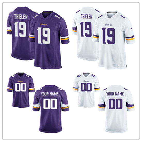 size 40 7ee9c 1a028 China Custom Customized Vikings Jerseys 19 Adam Thielen ...