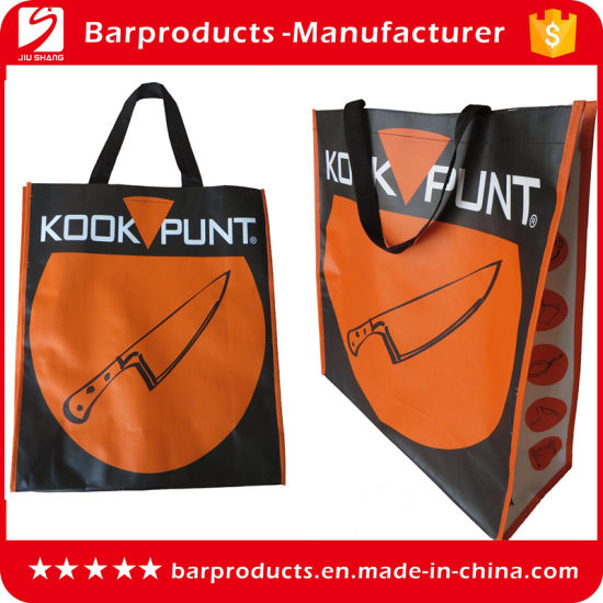 Reusable PP Woven Laminated Shopping Bag for Supermarket pictures & photos