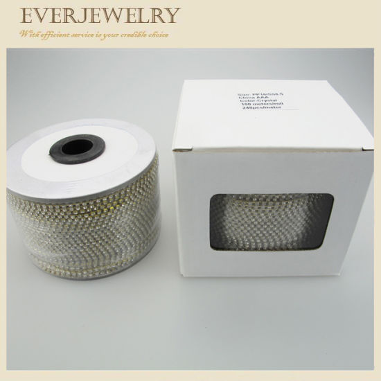 Ss8.5 Hot Sell Rhinestone Crystal Cup Chain for Decoration