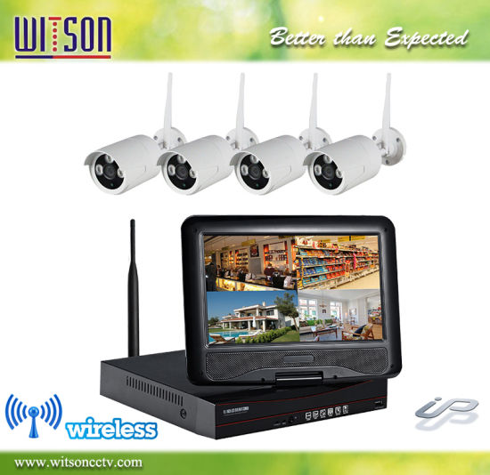 """4CH HD WiFi Home Security Camera System with 10/"""" inch LCD Screen Display Monitor"""