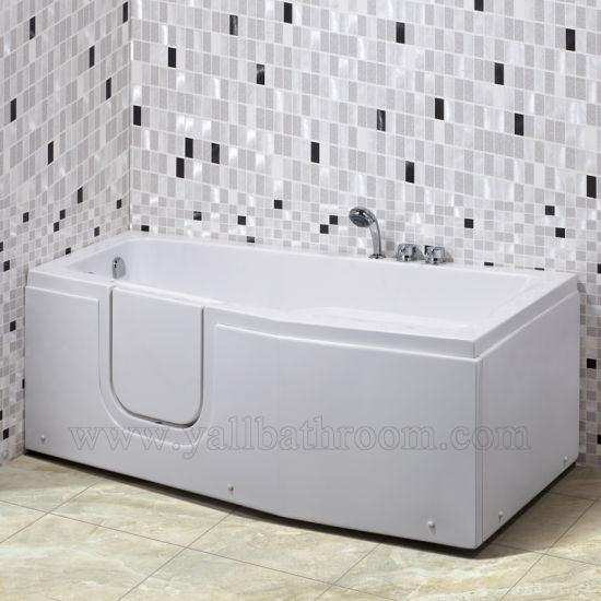 119A The Elderly SPA Jacuzzi Acrylic Massage Bathtub Walk In Corner Tub
