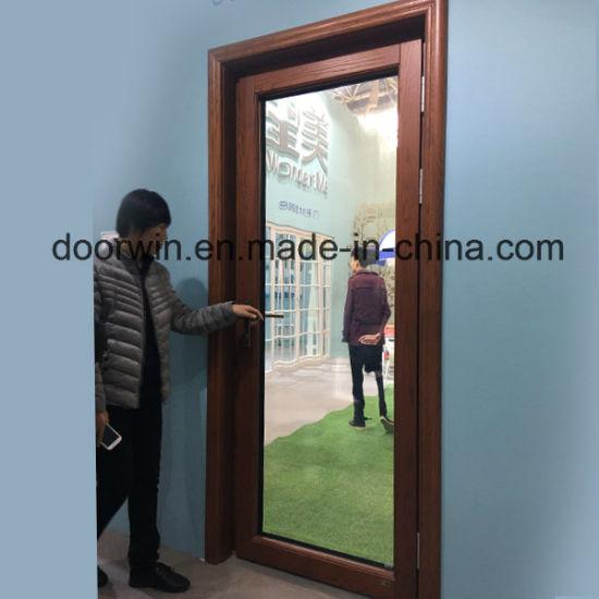 Oak Wood Patio Door with Aluminum Cladding, Hinged Timber Door