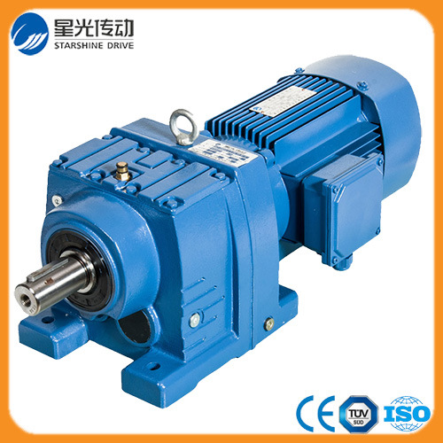 China Inline Motor Helical Gearbox Speed Reducer