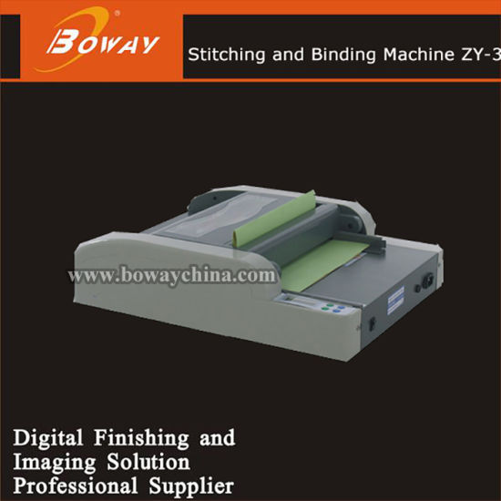 Ad Office Booklet Making Automatic Zy-3 Folding and Stitching Stapling Binding Machine pictures & photos
