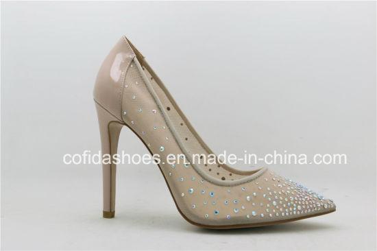 2017 Summer Trendy Sexy Diamonds High Heels Wedding Shoe