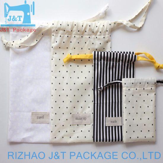 Heavy Duty Wholesale Dubai Organic Cotton Canvas Fabric Drawstring Muslin  Bag